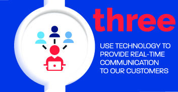 We use technology to provide real-time communication to our customer.