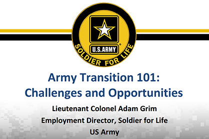 Army Transition 101: Challenges and Opportunities Image